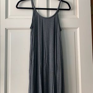 Gray Plain Maxi Dress